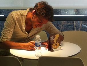 Rúben Alves esteve num encontro com os fãs, esta quarta