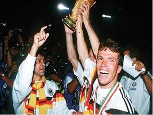 Alemanha levantou a terceira e última taça em Itália Foto: DR