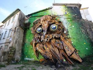 Paredes de casas e murais da Covilhã foram telas para os artistas participantes do Wool Fotos: Wool