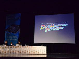 """A conversa sobre """"As incríveis aventuras de Dog Mendonça & Pizzaboy"""" foi um dos destaques de BD na Comic Con Portugal Foto: Joana Amorim"""