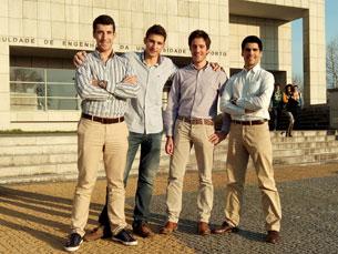 A equipa do projeto WeTruck é constituída por quatro licenciados em Engenharia Eletrotécnica pela Faculade de Engenharia da Universidade do Porto Foto: DR