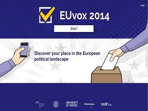 O EUVox oferece uma recomendação de voto baseada nas respostas dos utilizadores Foto: DR