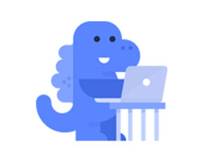 O dinossauro azul é a nova mascote do Facebook, que vai proteger a privacidade dos utilizadores Fonte: DR