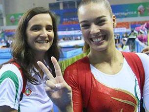 Ana Filipa Martins ficou em 16.º lugar na final do Campeonato do Mundo de Ginástica, em Nanning, na China Foto: DR