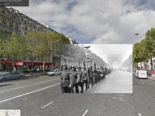 Utilizando o Google Street View, Docherty cola a imagem antiga à atual Foto: