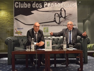Joaquim Jorge e Henrique Neto, no Clube dos Pensadores Foto: Joana Pina