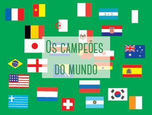 Os 32 países que participam ou participaram no Mundial de Futebol são campeões em áreas diferentes Ilustração: Telma Parada