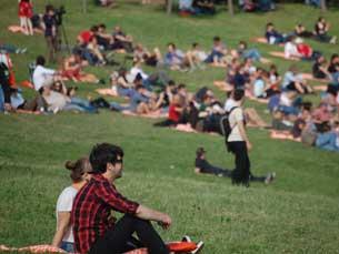 O Primavera Sound decorre entre 5 e 7 de junho, no Parque da Cidade Foto: Arquivo JPN / Foto balão: Hugo Cadavez/Flickr