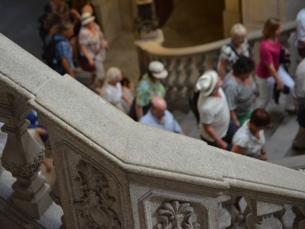 O Palácio da Bolsa recebeu, no último ano, mais de 200 mil turistas Foto: Fabiana Queirós de Oliveira