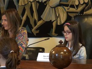 Guilhermina Rego foi a única vereadora presente na Assembleia de palmo e meio Foto: Joana Inês Moreira