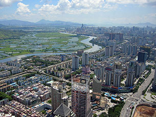 A cidade de Shenzhen, na China, é o alvo do concurso Global Schindler Award Foto: yuan2003/Flickr