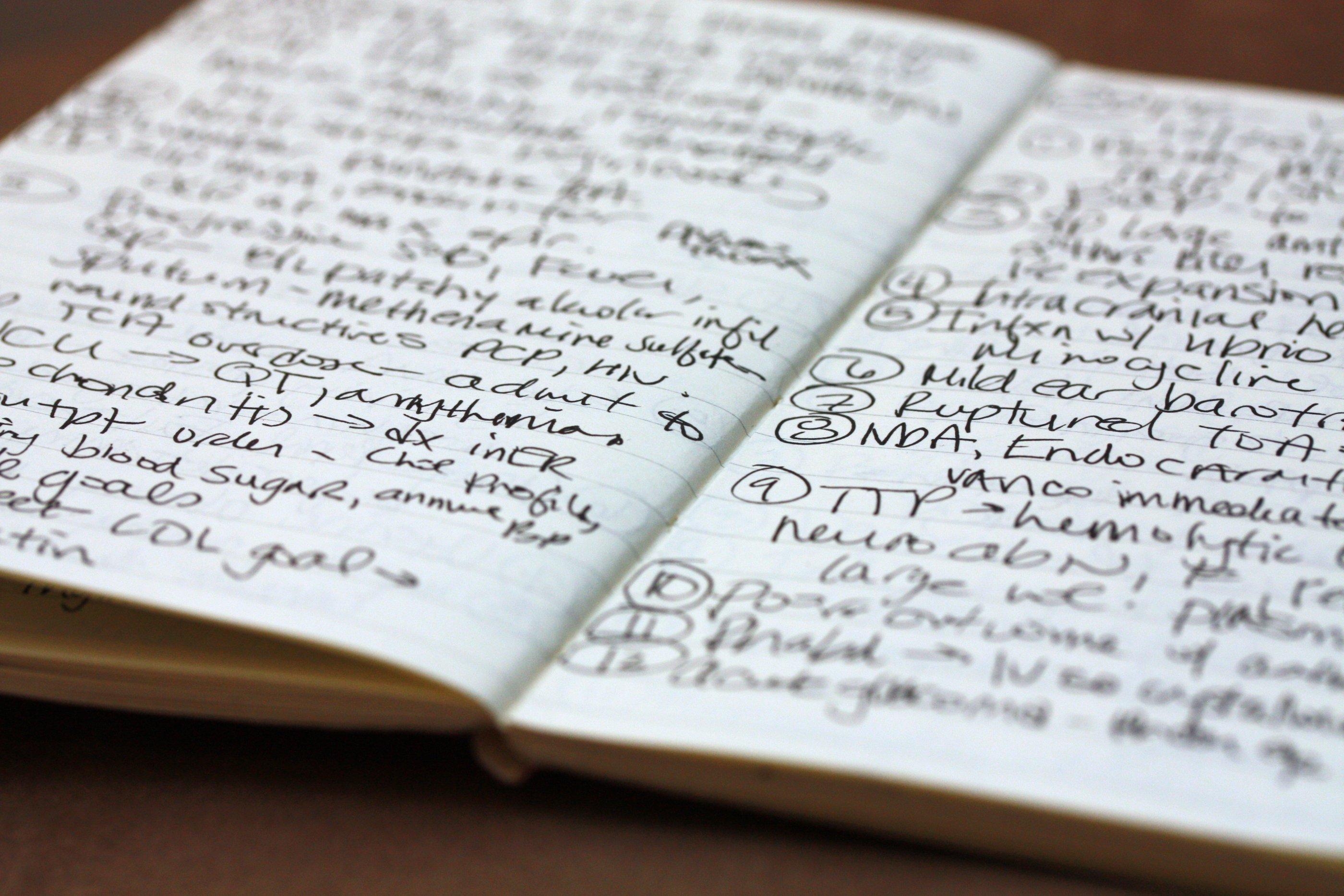 Caderno de notas