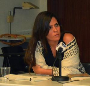"""Mariana Correia Pinto, jornalista do P3, do jornal Público, presente ontem no debate """"Precariedades"""""""