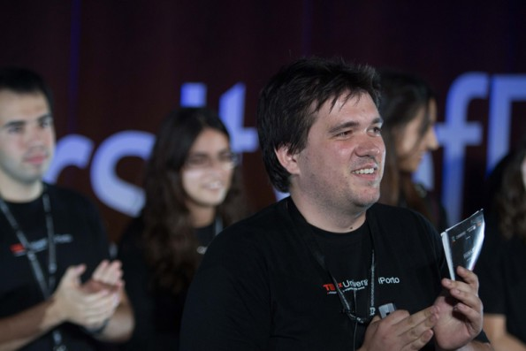 Leonil Kholkine, o anfitrião do TEDx University of Porto