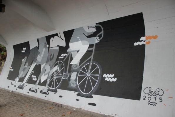 """Os """"andares"""" diferentes pelos Chei Krew, a lembrar Guérnica de Picasso"""