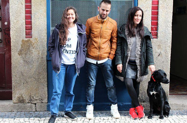 """Diana Monteiro e Fábio Santos são dois dos responsáveis do """"Hip Hop Com Senido"""". Rafi está à frente da Dedicated Store Porto"""