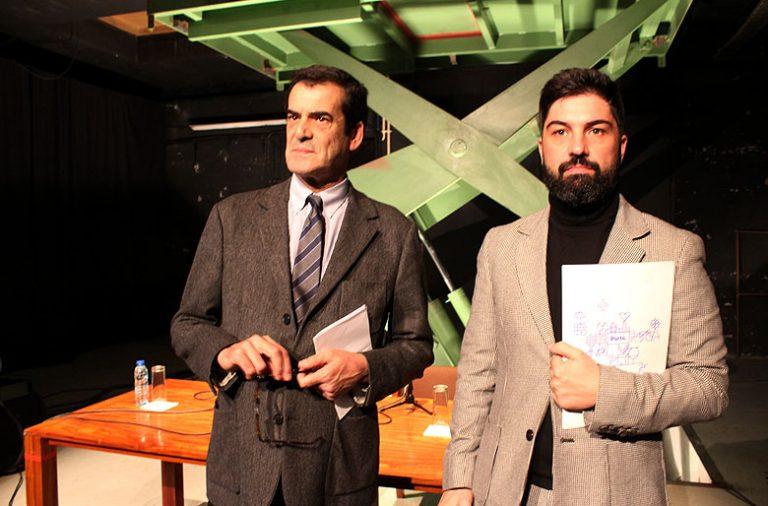 Rui Moreira ao lado de Tiago Guedes na apresentação da programação de janeiro e fevereiro do Teatro Municipal do Porto