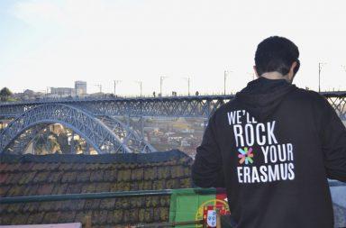 A receção aos Erasmus teve lugar num terraço com vista priveligiada