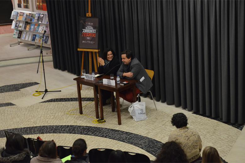 Maria Flor Pedroso e Nuno Costa Santos estiveram à conversa com alunos da Universidade do Porto