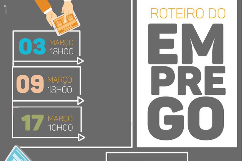 O Roteiro do Emprego acontece entre 3 e 17 de março