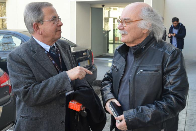 Jorge Campos (à direita) foi um dos deputados do BE que reuniu com a sub-CT da RTP Porto