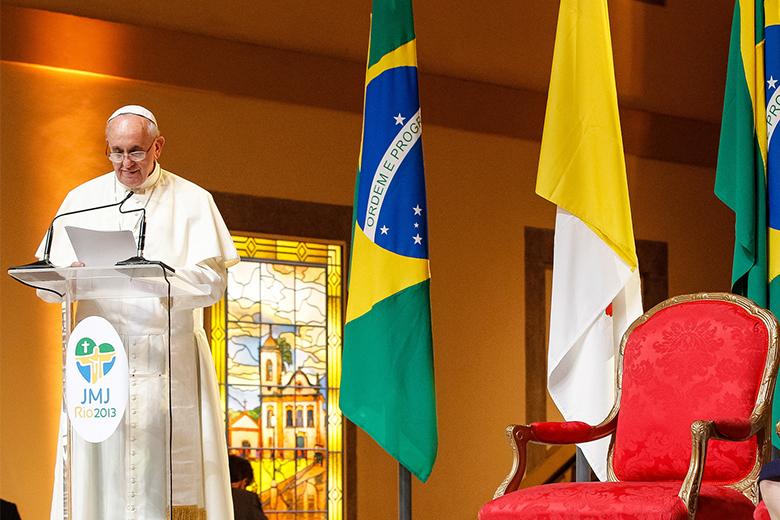 No dia 13, fez três anos de pontificado do Papa Francisco