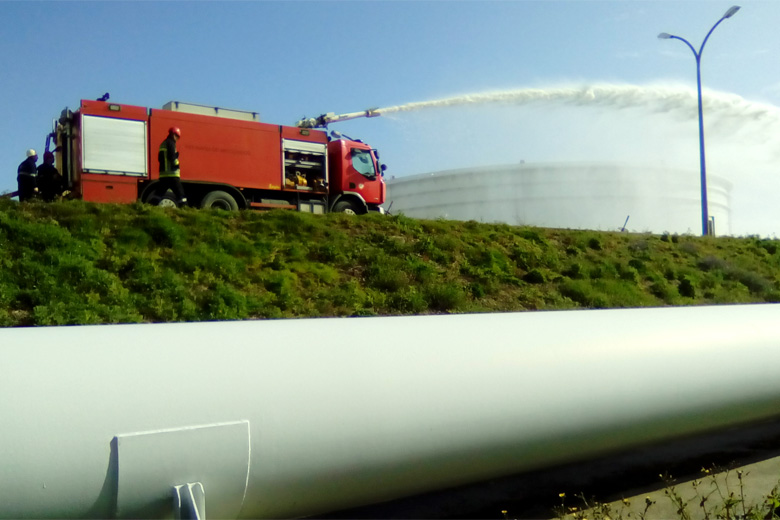 O simulacro serviu para testar aos meios de socorro do distrito do Porto, em caso de ataque terrorista