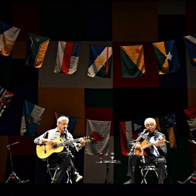 Caetano Veloso e Gilberto Gil partilharam o palco do Coliseu