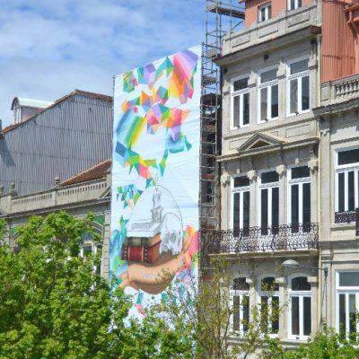 Dia 2: Do jardim das Oliveiras, a obra de MrDheo e Pariz One era visível