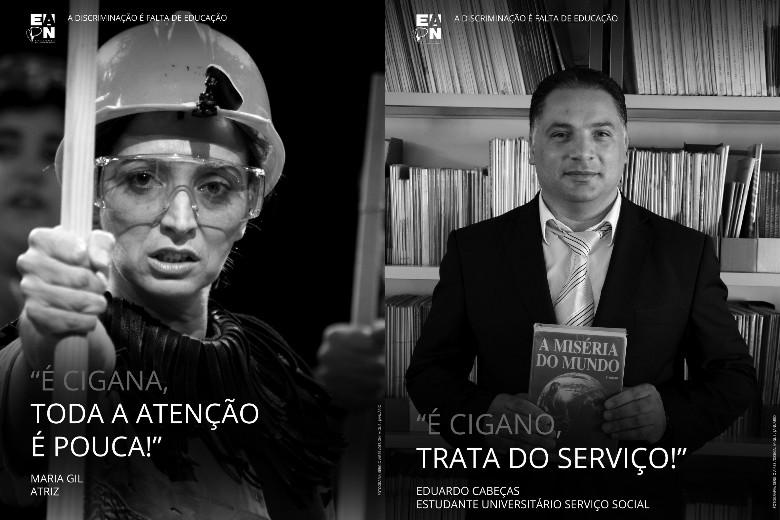 A Rede Europeia Anti-Pobreza de Portugal lançou sete cartazes alusivos aos estereótipos associados à comunidade cigana, em Portugal