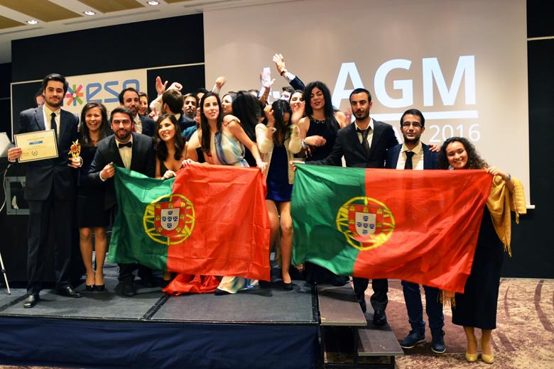 Portugal foi a estrela da noite e arrecadou oito prémios, entre os quais Melhor País ESN
