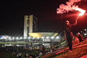 Protestos nesta quinta-feira a favor da presidente em Brasília