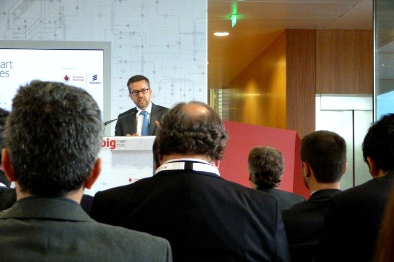 Carlos Moedas, comissário europeu, fez uma das intervenções no lançamento do BIG smart cities no Porto