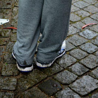 A chuva e lama não pararam os participantes.