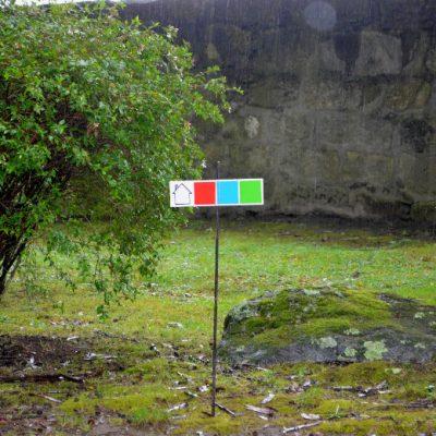 Os pontos do percurso adaptado limitavam-se a cores e símbolos.