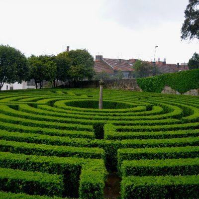 O labirinto de São Roque foi utilizado para esconder uma das balizas do percurso de orientação.
