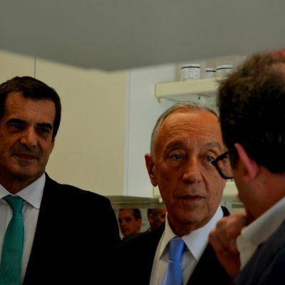 Rebelo de Sousa conversou com vários investigadores do Instituto de Investigação e Inovação em Saúde, no Porto