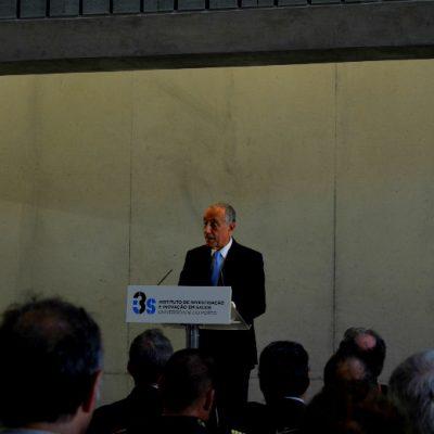 Marcelo Rebelo de Sousa discursou na inauguração do I3S, no Porto