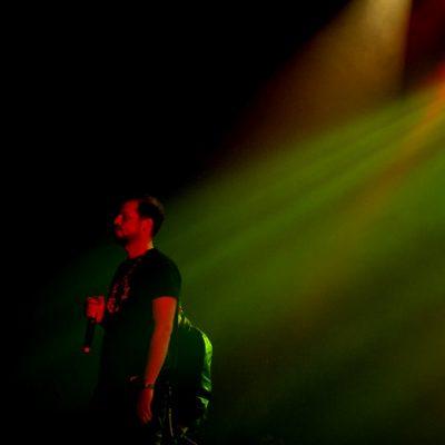 """Expeão dedicou a música """"Anatomia do Espírito"""" ao filho Gabriel que assistia ao concerto na plateia."""