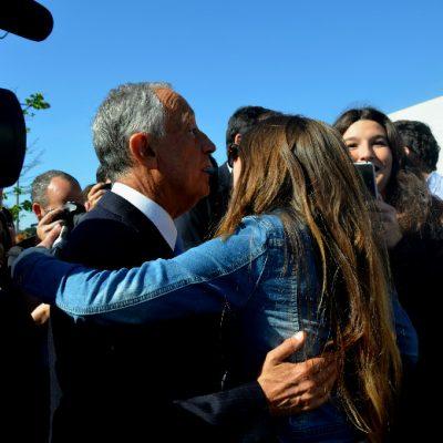 O Presidente da República foi muito acarinhado pelos portugueses