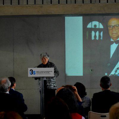 Já no fim da inauguração, Corino de Andrade e Mariano Gago foram homenageados