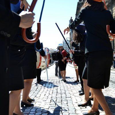 O Orfeão Universitário do Porto marcou também presença na frente do cortejo