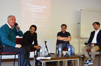 """""""Comunicação, Desporto e Sociedade foi a palestra que trouxe Fernando Eurico, Roberto Rivelino e João Ricardo Pateiro à Semana de Desporto da FLUP."""