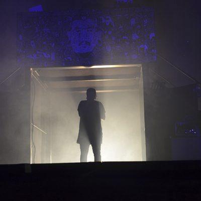 O concerto ficou marcado por uma grande aproximação para com o público