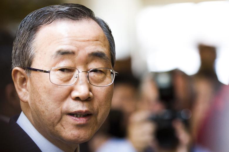 O Secretário-Geral da ONU termina o seu mandato no final deste ano.