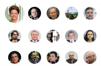 São várias as figuras-chave do processo de impugnação da presidente Dilma.
