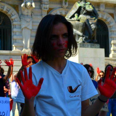 A revolta era visível na cara dos manifestantes