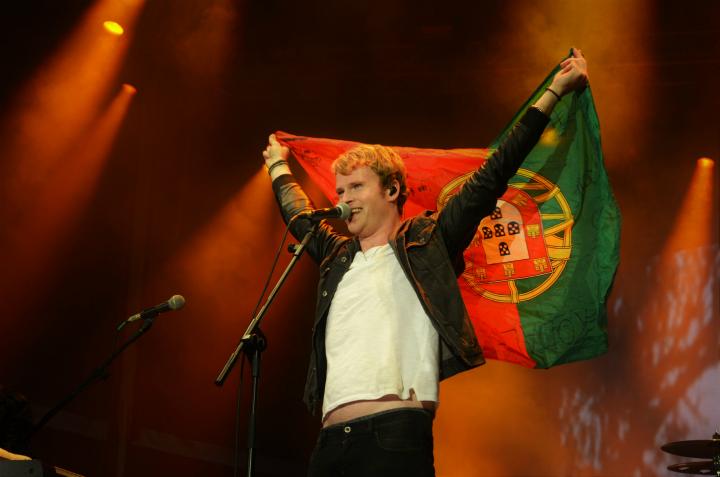O vocalista dos irlandeses Kodaline, uma das bandas mais esperadas.