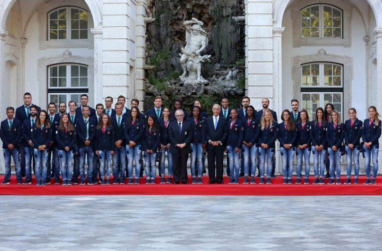 A comitiva portuguesa foi recebida quarta-feira pelo Presidente da República.