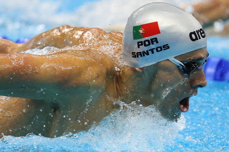 Estes são os primeiros Jogos Olímpicos de Alexis Santos.